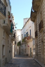 Typical street in Galatina's old town